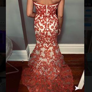 Strapless tiffany mermaid dress
